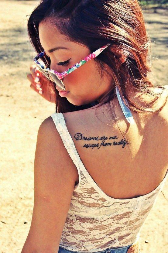 Quote Tattoo on Blade