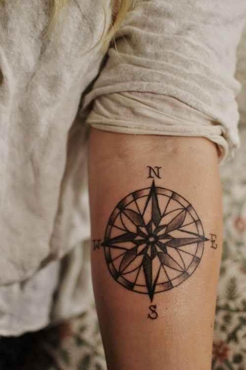 Lovely Compass Tattoo for Men
