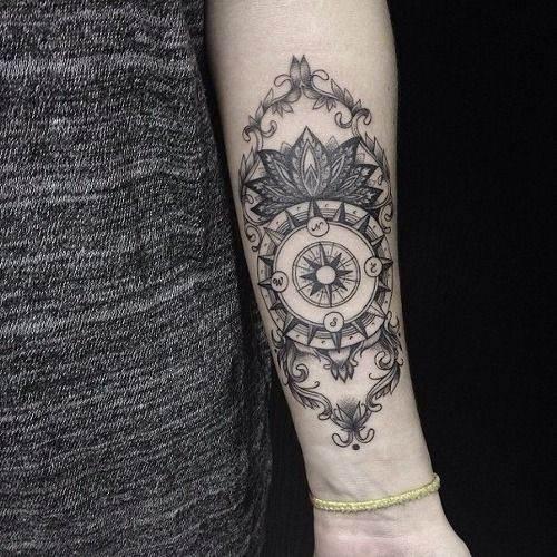 Enhanced Version of A Compass Tattoo