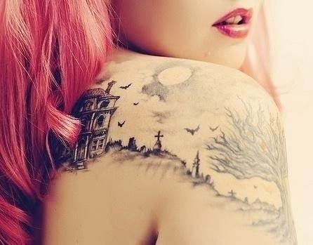 Halloween Shoulder Tattoo