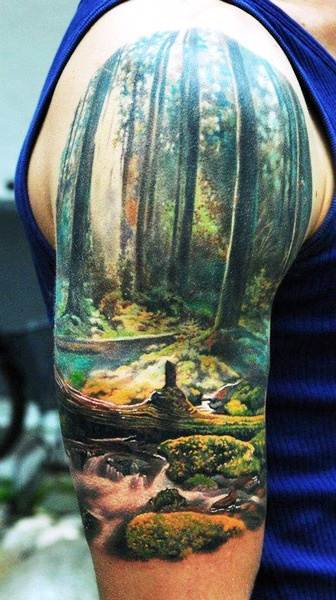 Amazing Colored Tattoo for Men