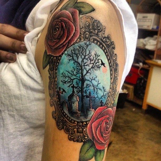 Colored Mirror Tattoo