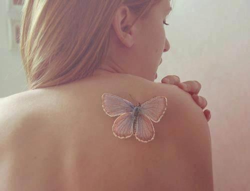 Pretty Pastel Butterfly Tattoo