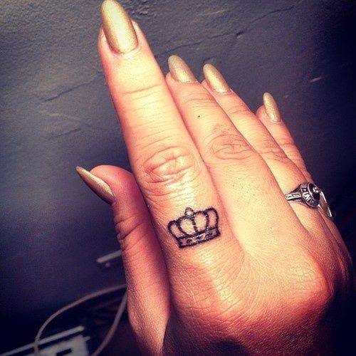 Adorable Finger Tattoo