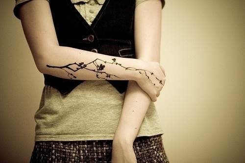 Pretty Tattoo Design on The Arm