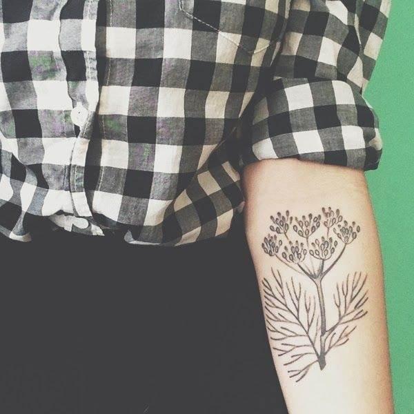Lovely Plant Tattoo for Women