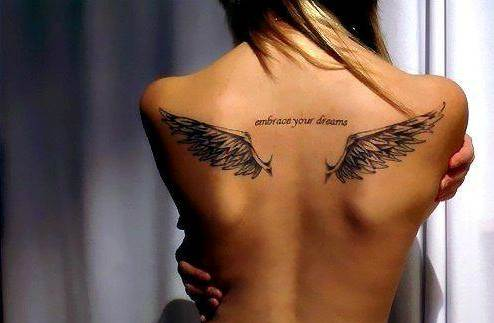 Angel Tattoos Designs: Angel Wings Tattoo on Back