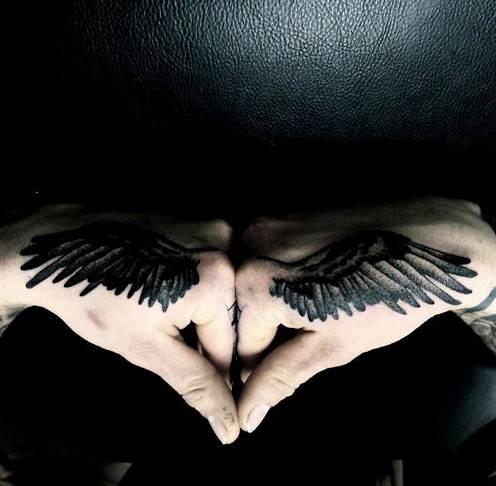 Angel Tattoos Designs: Wing Tattoos on Hands