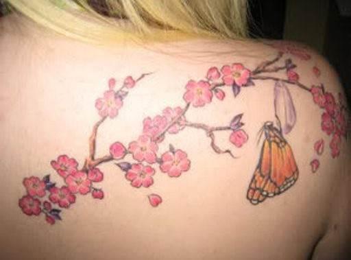 Cherry Tattoos: Flower Tattoos Design for Women