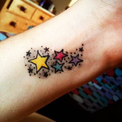 Star tattoo designs: Tattoos for girls on wrist