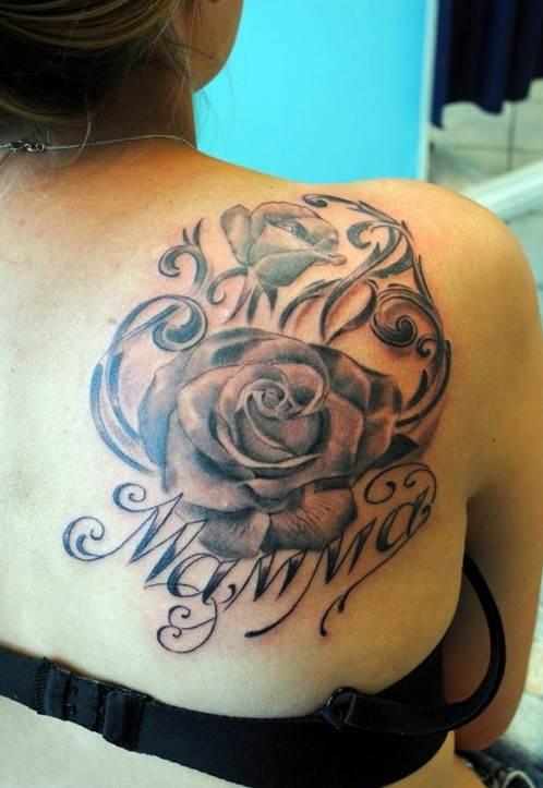 Roses Tattoo for Girl: Shoulder Tattoos