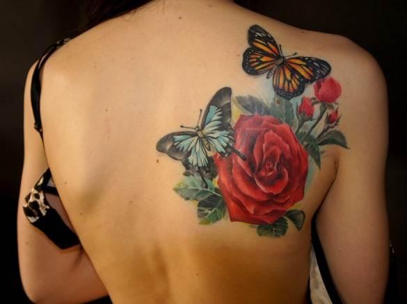 Cute Healed Roses Tattoo