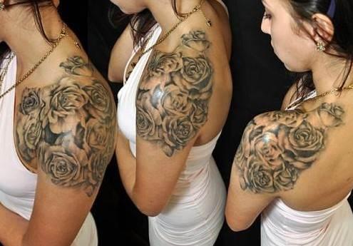 Beautiful Rose Tattoo Ideas on Shoulder