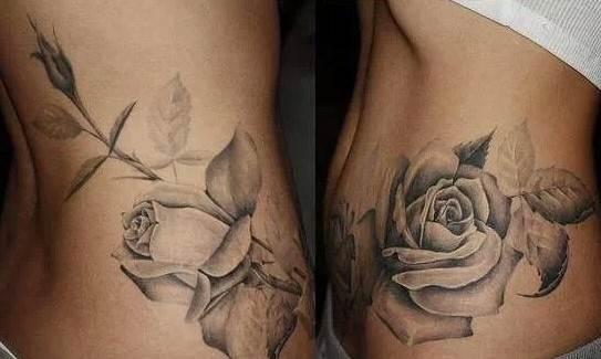 Rose tattoo no outline