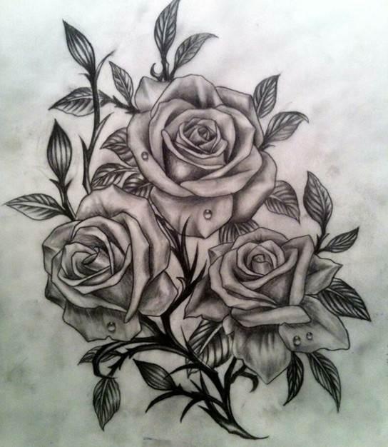 3D Rose Tattoo Designs