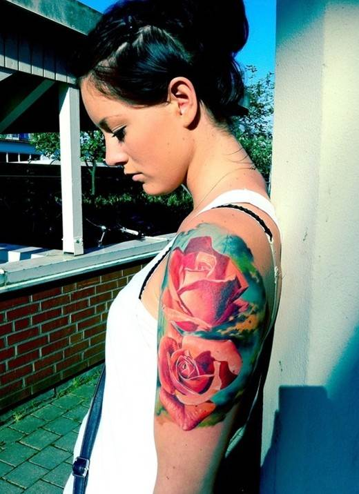 Red Roses Tattoo on Arm