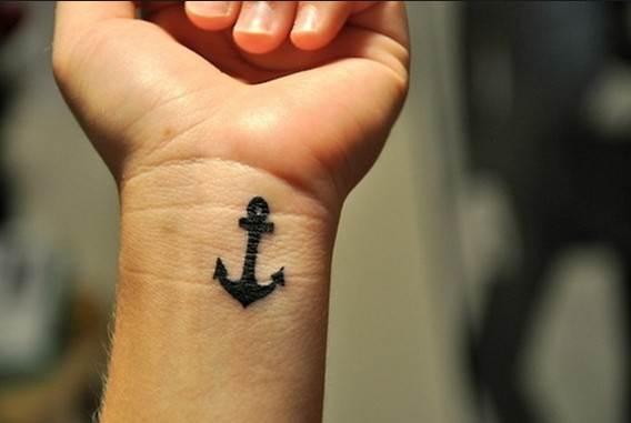 Cute Small Wist Anchor Tattoos