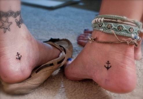 Small Anchor Tattoo Design